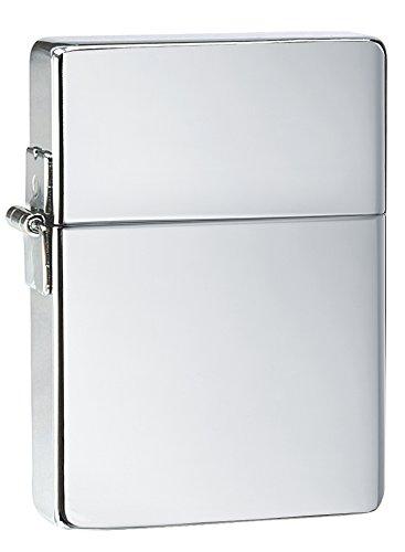Zippo #1 High Polish Chrome Lighter (Silver, 5 1/2x3 1/2-cm)