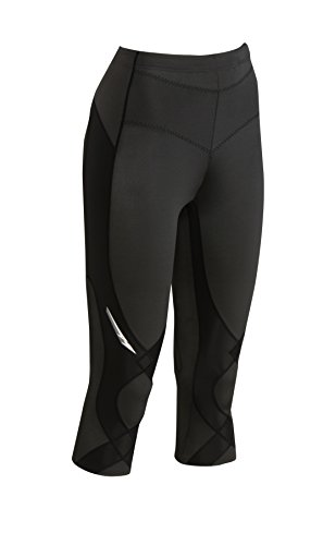 CW-X Women's Mid Rise 3/4 Capri Stabilyx Compression Legging Tights