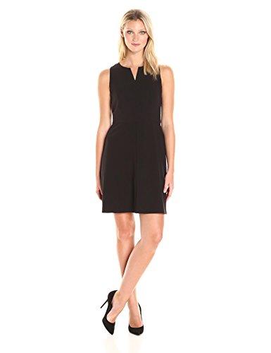 kensie-womens-stetch-cepe-dress-black-m