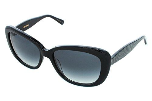 negro V412 de Wang 54MM Gafas Vera sol qawFzqS