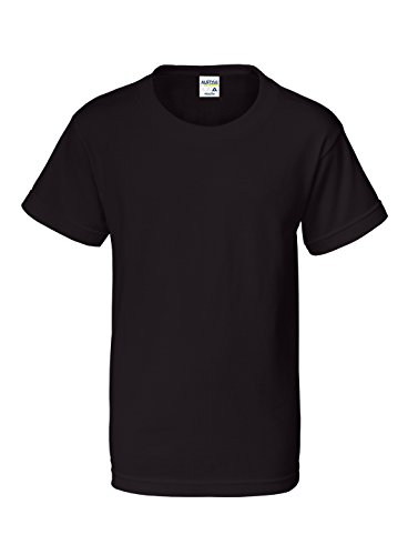Alstyle Apparel AAA Big Kids' Youth Classic T-Shirt, Black, X-Large