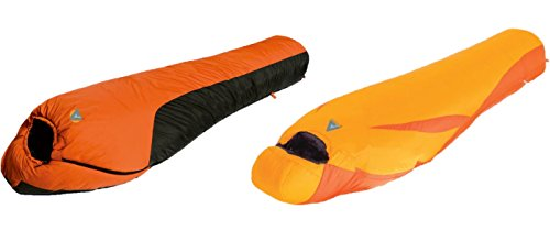 Alpinizmo High Peak USA Ultra Lite 0F Sleeping Bag + Water Proof 20F Sleeping Bag Set, Orange, One Size Review