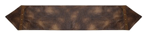 HiEnd Accents Rustic Leather Table Runner - Leather Table Runner