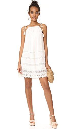 alice + olivia NWT Danna Boho Lace Crochet crepon Mini White Dress Coverup - Large by alice + olivia