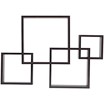 Amazon Com Danya B Yu008 Floating Squares Shelving Unit