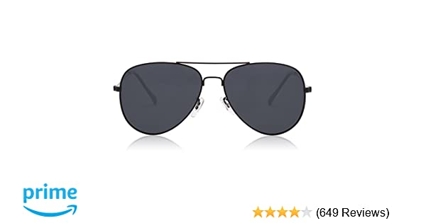 6a0385d2729 Amazon.com  SOJOS Classic Aviator Polarized Sunglasses Mirrored UV400 Lens  SJ1054 with Black Frame Grey Polarized Lens  Sports   Outdoors