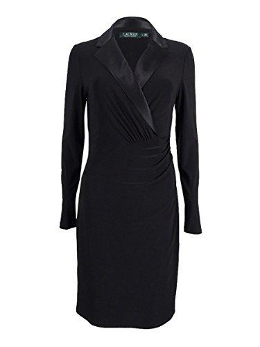 Lauren Ralph Lauren Women's Silk Lapel Long Sleeve Dress (12, (Ralph Lauren Silk Dress)