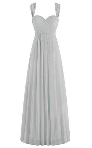 Kleid silber chiffon