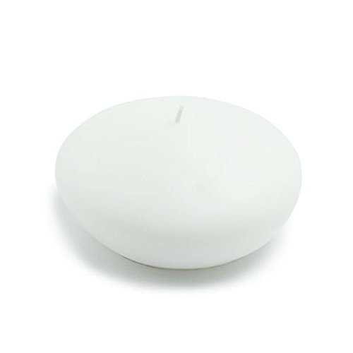 Zest Candle CFZ-079_8 24-Piece Floating Candle, 4'', White by Zest Candle (Image #1)