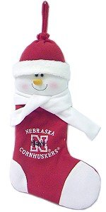 Nebraska Cornhuskers 22 Snowman (22 Snowman Christmas Stocking)
