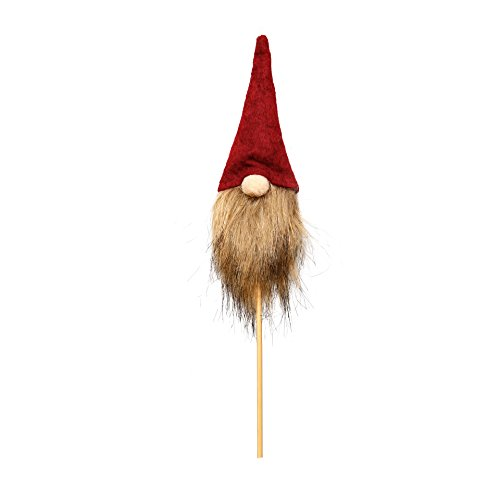 Planter Gnome (ITOMTE Swedish Tomte, Santa - Handmade Gnome Planter Stakes Father's Day Decoration - Home Ornaments For Flower Pot/Garden/Yard, Red)