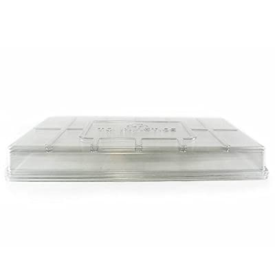 Plant Tray Clear Plastic Humidity Domes - Fits 10 Inch x 20 Inch Garden Germination Trays - Greenhouse Grow Covers