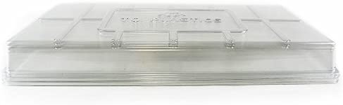 Plant Tray Clear Plastic Humidity Domes Pack of 5 – Fits 10 Inch x 20 Inch Garden Germination Trays – Greenhouse Grow Covers