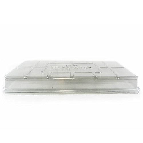 Plant Tray Clear Plastic Humidity Domes: Pack of 50 - Fits 10 Inch x 20 Inch Garden Germination Trays - Greenhouse Grow Covers