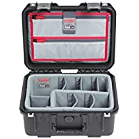 SKB Cases iSeries 1309-6 Case with Think Tank Dividers & Lid Organizer, Black (3i-1309-6DL)