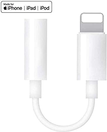 Apple MFi Certified Lightning to 3.5mm Headphones//Earbuds Jack Adapter Aux Cable Earphones//Headphone Converter Accessories Compatible with iPhone 11//Xs MAX//XR//X//8//8 Plus//7//ipad//iPod Support iOS 13