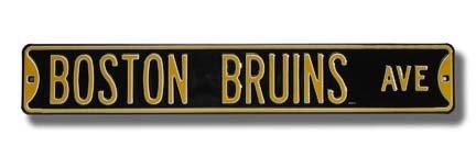 NHL Boston Bruins Ave, Heavy Duty, Metal Street Sign Wall Decor ()