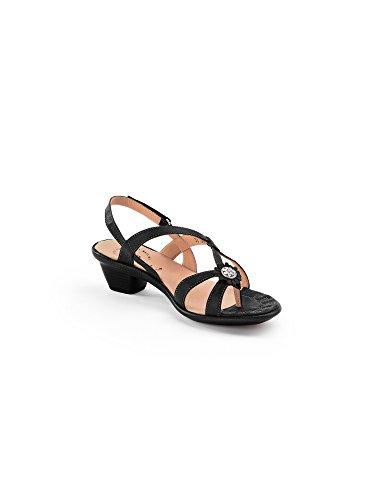 Think Nanet 8652109& Mules Womens Sandals in Medium Black 4bmzzP8Y