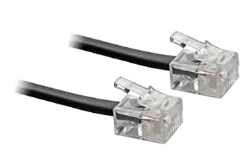 Alida Systems /® 20m ADSL Cable Premium Quality // Gold Plated Contact Pins // High Speed Internet Broadband // Router or Modem to RJ11 Phone Socket or Microfilter // White D: 20m - /£6.50