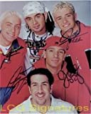 Signed N' Sync 8x10 by Justin Timberlake, Chris Kirkpatrick, Joey Fatone, Lance Bass and JC Chasez autographed