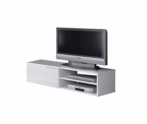 HABITMOBEL Mesa Television DE 130CM Blanco: Amazon.es: Hogar