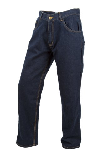 (ScorpionExo Covert Jeans Men's Reinforced Motorcycle Pants (Blue, Size 34))