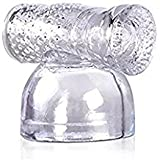 Massager Attachments for Men,Silicone Massager Accessory (Clear)