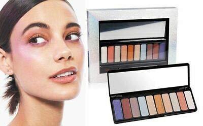 Macy's 10 Color Galaxy Dust Eyeshadow Palette & Eye Shadow Brush New In Box