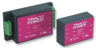 TRACOPOWER TML 15512C AC-DC CONV, ENCLOSED, 3 O/P, 15W, 5V, 12V, -12V