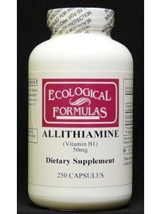 Ecological Formulas Allithiamine Vitamin B1 Capsule, 50 mg, 250 Count by Ecological Formulas