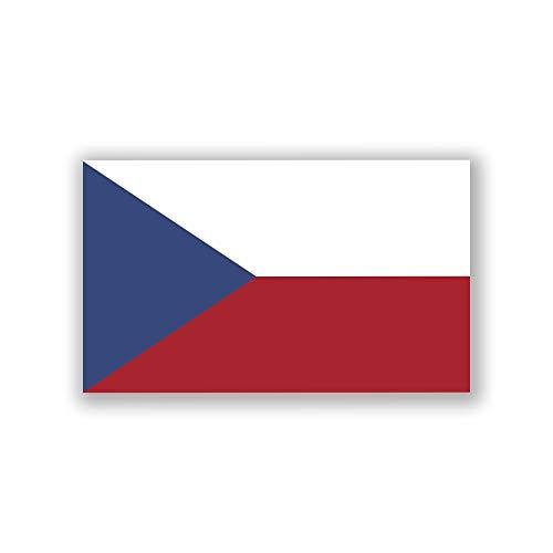 - 2-Pack Czech Republic Flag Decal Sticker | Official Flag of The Czech Republic Stickers | 5-Inches by 3-Inches | Premium Quality Vinyl | PD415