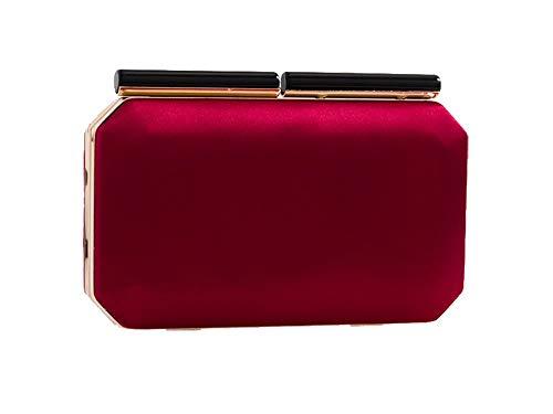 Haute Diva Women Diva Burgundy Women Satin Bag Satin for for Haute Clutch Silver OarOH