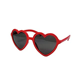 Time Concept Fashion UV400 Heart Sunglasses for Kids - Red
