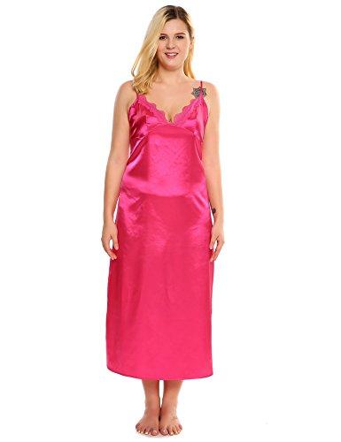 6404dd91c826 Ekouaer Plus Size Sexy Satin Nightgown Lingerie Sleepwear | Weshop ...