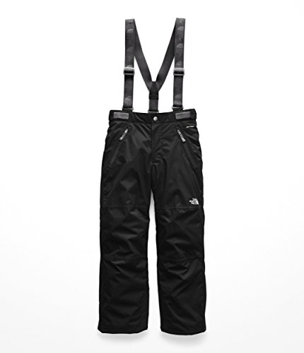 The North Face Youth Snowquest Suspender Plus Pant, TNF Black, S (Girls Face The Pants North Ski)