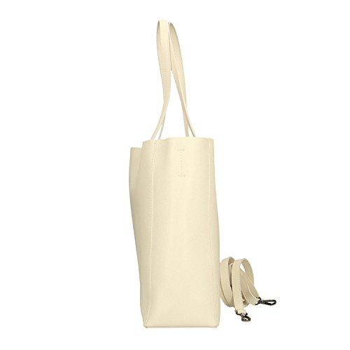 38x30x12 Beige A Mano Borsa Chicca In Borse Made Cm Italy Handbag Pelle Vera a7qUWwv