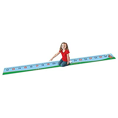 Learning Resources 0-30 Number Line Floor Mat, Blue: Office Products