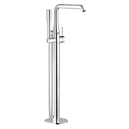 Essence New Floor Standing Tub Filler With Hand Shower - Grohe Bath Filler