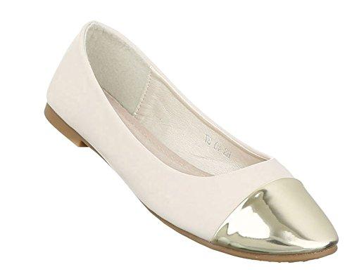 Damen Ballerinas Schuhe Lofers Espadrilles Pumps Beige