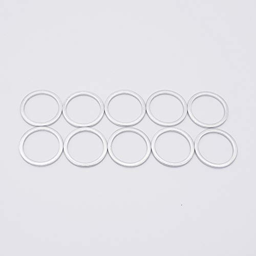 M16 Oil Drain Plug Gaskets Crush Washers Seals Rings for BMW Motorcycle, Replacement for the Part # 07 11 9 963 252, 10 Pack