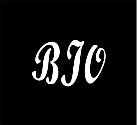 3  White Monogram 3 Letters Bio Initials Bold Font Script Style Vinyl Decal Great Size For Cups Or Mugs Use On Any Smooth Surface