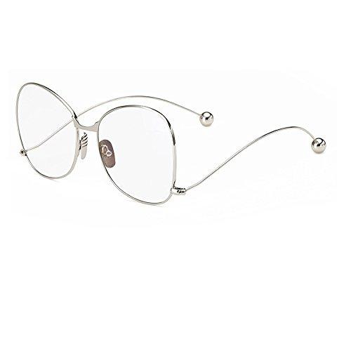 Osier Women Men Rimmed Oversized Clear Lens Optical Glasses,Plain glass