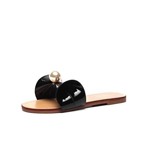 afuera El A zapatillas plano Pantuflas fondo las la arco manera del desgaste verano de de del r8rnWZY