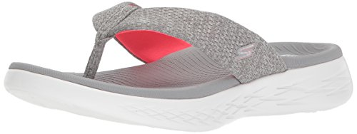 600 Go Sandals Grey Skechers The Pink Preferred On 4Uq66xR