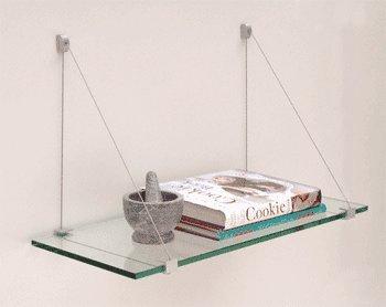 Aluminum Glass Shelf Bracket - C.R. LAURENCE 1024K CRL Satin Aluminum 10