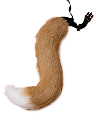 ANBI Faux Fur Tail and Ear for Adult/Teen Cosplay Halloween Party Costume]()