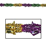 Metallic Garland (gold, green, purple) Party Accessory  (1 count) (1/Pkg)