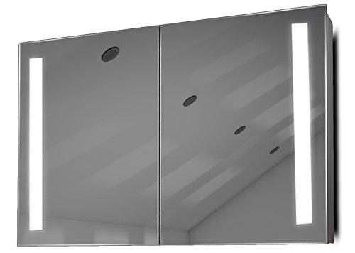 Julius LED Bathroom Cabinet with Demister Pad, Sensor & Shaver k372
