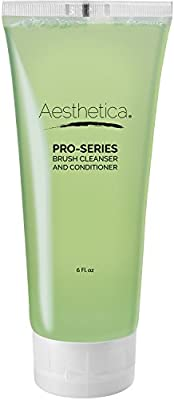 Aesthetica Makeup Brush Cleaner – Professional Grade Brush Cleaner Shampoo – Formulated to be Gentle Enough for any Brush, Sponge or Applicator - Made in the USA