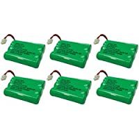 Replacement Telephone Battery for GE/RCA BATT-27910 / 5-2522 / 5-2523 / 5-2539 / 5-2569 / 5-2637 / 5-2650 / 5-2683 / 5-2721 / 5-2729 / 5-2781 / TL26158 / CPH-464D (6-Pack)
